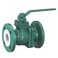 F46 PTFE Lined Ball Valve