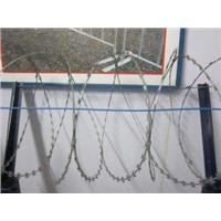 Galvanized Razor Wire or Stainless Steel Razor Barbed Wire Fence