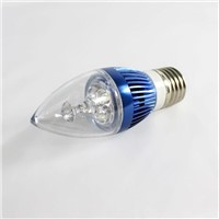 Green 3W E14 led candle bulbs daylight white AC85-264V