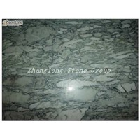 Green cloud marble