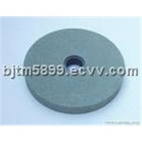 Green silicon carbide abrasive wheel