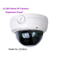 H.264 Vandal-proof Dome IP Camera