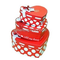 Heart Shape Music Promotional Paper Gift Box