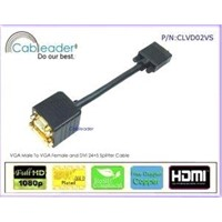 High Quality VGA Cable Splitter Male to Female And DVI-D(Dual Link) Female Cable