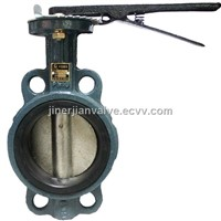 Manual operated wafer butterfly valve
