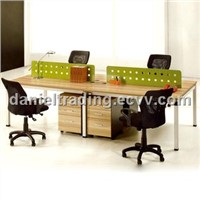 Most fashion 4-seat melamine wooden office work station