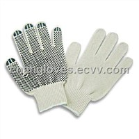 PVC dotted knitted hand gloves