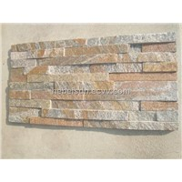 Quartzite stacked stone wall cladding