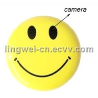 Smiling Face Brooch Spy mini hidden dvr Camera DV recorder camrecorder