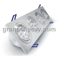 Square LED downlights