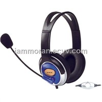 Stereo Headphone for MP3, Computer with mic