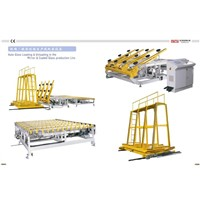The Auto Glass Loading& Unloading in the Mirror& Coated Glass Production Line