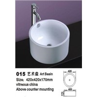 Wash basin in modern design