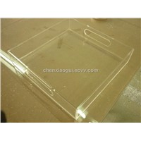 Water Clear Acrylic Serving Tray