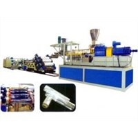Wood-plastic sheet extrusion line