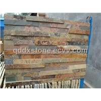 china rusty yellow slate culture stone