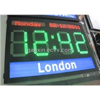 custom large high brightness led world time clock