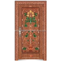 entry imitate copper door