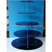 five layer acrylic cupcake holder,round acrylic cupcake stand