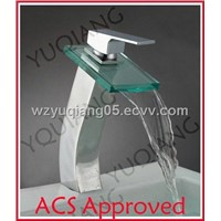 Glass Waterfall Mixer - CE & ACS Approved