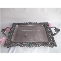 large metal serving trays,dinner trays