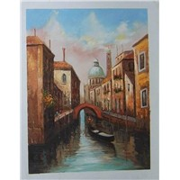 oil painting art Venice City Bridge --WNS20