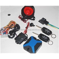 one way car alarm system with flip key and car logo