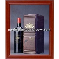 hot sell luxury red wine packaging box