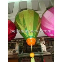 Silk lantern with hand drawing (40cm dimention)