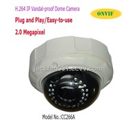 H.264 Plug and Play Dome IP Camera