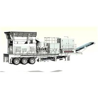 Mobile Vibrating Feeder And Cone Crusher Plant