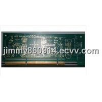 Multilayer PCB board with gold fingers
