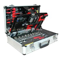 122pcs kraft brand hand tool set in aluminium case