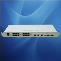 16 E1 over Ethernet gateway with rack mountable housing