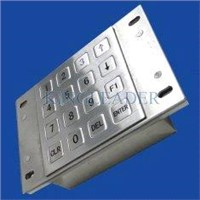 16 flush keys USB or PS2 Metal Numeric Keypad for gaming machines MKP91-16F
