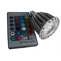 3*2w High Power LED Spot Light-RGB