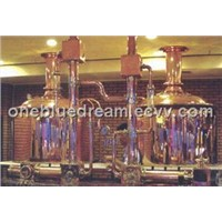 500 L brewing line, beer equipment, mash tun, lauter tun for pub, restaurant and hotel