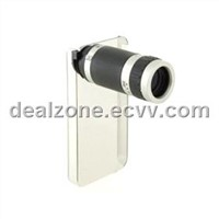 6X Zoom Mobile Phone Telescope for iPhone4 (Black)