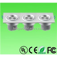 9W LED downlight 9X1W led ceiling light
