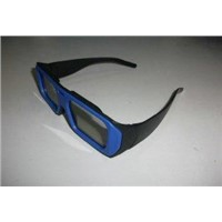 ABS plastic frame  linear polarized 3D glasses for cinema with color blue and red