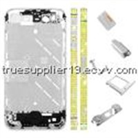 Apple iPhone 4S Yellow Diamond Middle Plate Housing Faceplate Silver