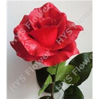 Artificial flower with high quality for Christmas decoration: PU material big rose