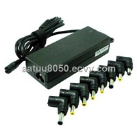 Auto-detection 90W universal laptop battery charger with 8 output pins for most laptops use