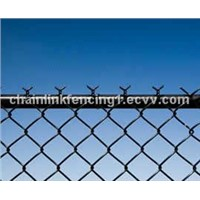 Black Chain Link Fence is the common type PVC Chain Link Fencing