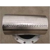 China welded V-wire continuous slot screen filter pipe