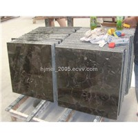 Chinese dark emperador marble slab and tile