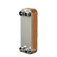 Copper Brazed Heat Exchanger Oil Cooler Stainless Steel AISI 316 Plates 10C - 225C