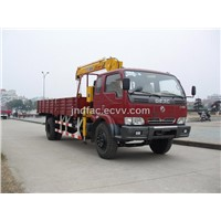 Dongfeng Truck Cargo with Telescoping Boom Crane (EQ145)