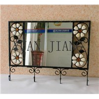 Exquisite Iron Crafts of Hook Mirror Frame