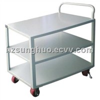 Flatbed trolley|Three layers white flatbed trolley